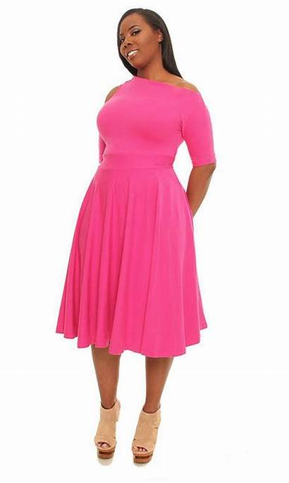 Plus Pink Dresses Outfits Spring Clothes Womens