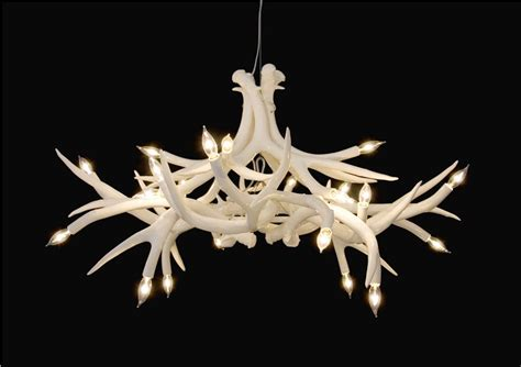 lighting with a deer antler chandelier light
