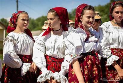 Romanian Traditional Maramures Costumes Wood Folk Dances