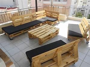 Coussin Salon De Jardin Palette : 52 id es pour fabriquer votre meuble de jardin en palette ~ Teatrodelosmanantiales.com Idées de Décoration