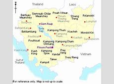 1Up Travel Cambodia Maps & Cities Map & Cities of Cambodia