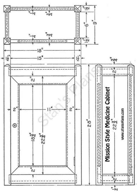 woodwork plan  medicine cabinet  plans