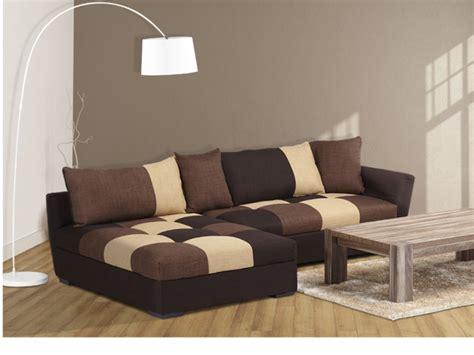 vente privé canapé canapé angle convertible en tissu gris ou chocolat romane