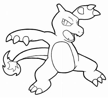 Charmeleon Ash Coloring Charmander Pikachu Drawing Pokemon