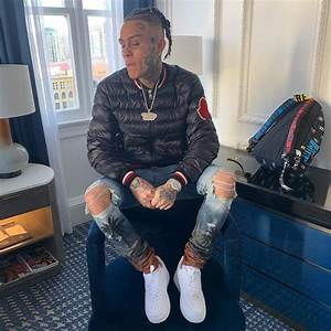 lil skies ft palm tree moncler bomber wcc backpack