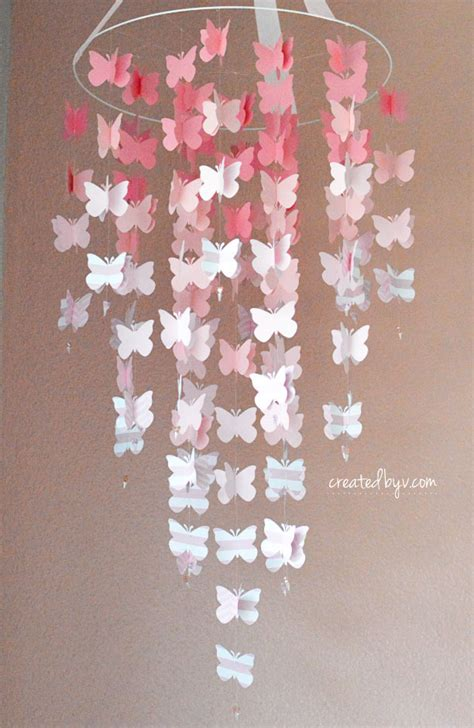 butterfly mobile pink ombre created