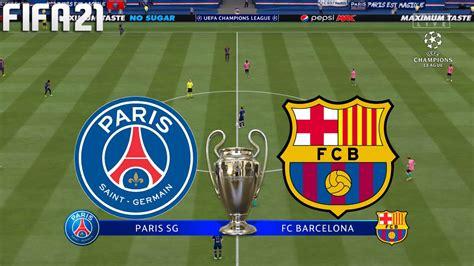 FIFA 21   PSG vs Barcelona - UEFA Champions League - Full ...