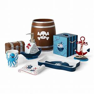 Kassatex pirates bath accessories bloomingdale39s for Pirate bathroom accessories