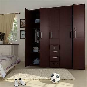 5 Doors Wooden Wardrobe Hpd441 - Fitted Wardrobes - Al