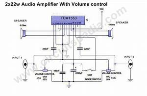 High Power Stereo Audio Amplifier Circuit 44w Stereo Audio