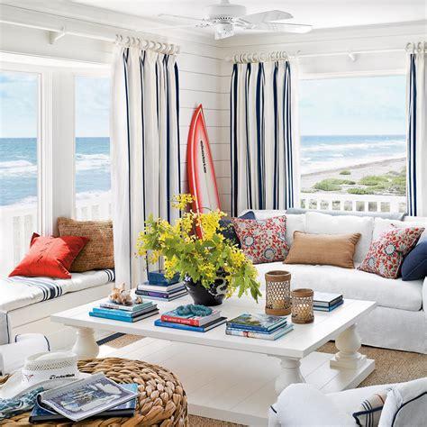hang curtains high 40 beautiful beachy living rooms