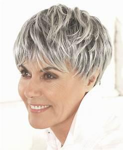 Coupe Cheveux Gris Femme 60 Ans : coupe cheveux courts femme 60 ans coupe cheveux femme 60 ~ Voncanada.com Idées de Décoration