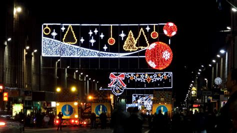 lord provost switched on christmas lights in aberdeen on
