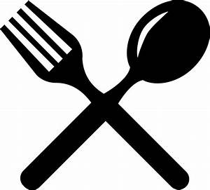 Cutlery Cross Couple Of Fork And Spoon Svg Png Icon Free ...