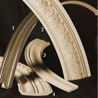 crown molding materials flexible molding arch molding