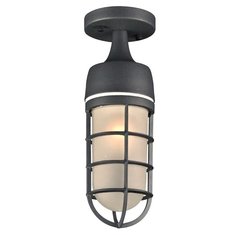 plc 8052bz cage modern bronze outdoor flush mount light