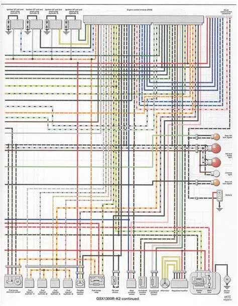 wiring diagrams color x y k1 k2 k3 k4 hayabusa owners