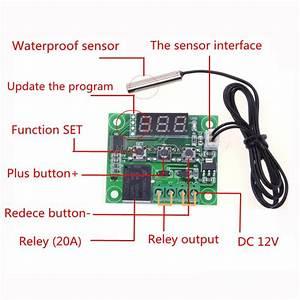 1pcs W1209 Dc 12v Heat Cool Temp Thermostat Temperature