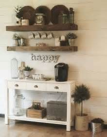 24 home coffee and tea station décor ideas to try - Above Kitchen Cabinet Decorating Ideas