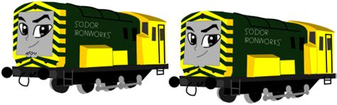 arry and bert the ironworks diesels by shawanderson on deviantart