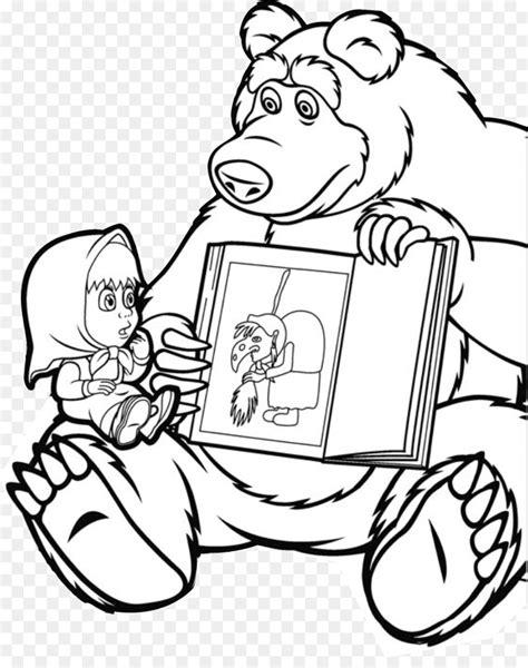 bear masha drawing coloring book masha   urso png