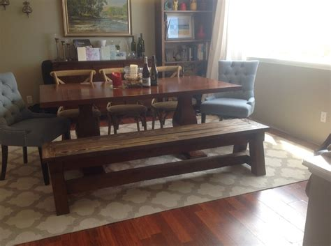 ana white dining table  truss bench diy projects