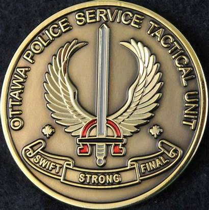 Police Tactical Ottawa Unit Service Coins Challengecoins