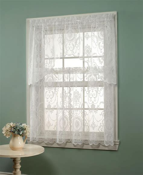 sears sheer lace curtains floral lace curtains sears