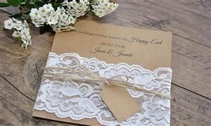 Einladungskarten Für Hochzeit : einladungskarten hochzeit vintage kraftpapier k sst spitze ~ Yasmunasinghe.com Haus und Dekorationen