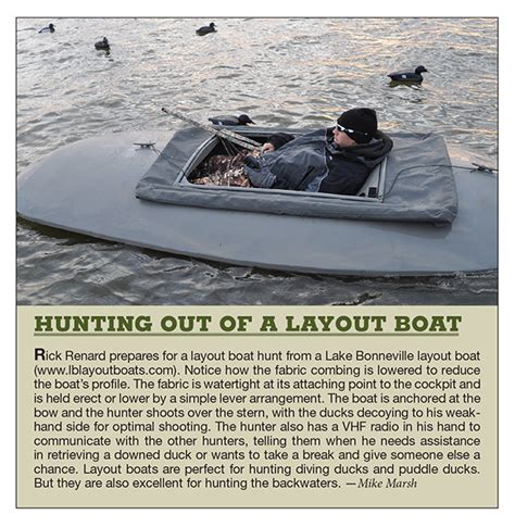 Layout Duck Boat by Waterfowl Tactics Try Duck From A Layout Boat