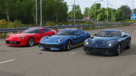 How does the ferrari 812 superfast compare against the ferrari f12 tdf? Forza Horizon 4 Drag race: Ferrari F12 Berlinetta vs F12 TDF vs 812 Superfast - YouTube