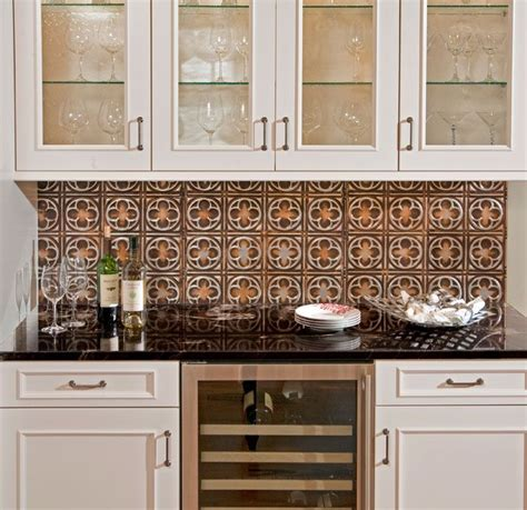 copper backsplash for kitchen 76 best tin backsplashes images on kitchen 5783