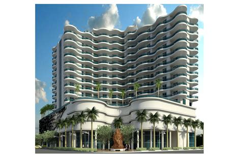 downtown hollywood scores  curvy condo tower sun sentinel