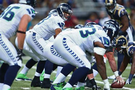 seahawks  rams  halftime score seattle leads