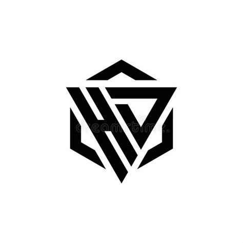 hd logo monogram  triangle  hexagon modern design template stock vector illustration