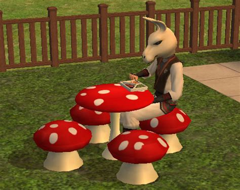 mushroom table and chairs set mod the sims mushroom table and chairs set