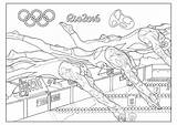 Coloring Olympic Swimming Olympics Pages Rio Adult Games Summer Sport Adults Special Swim Team Sports Fun Sheets Children Events Gymnastic sketch template