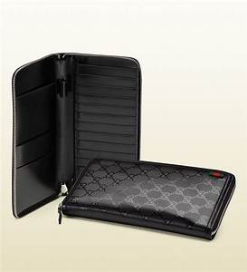 Gucci travel document case in black for men lyst for Gucci document case
