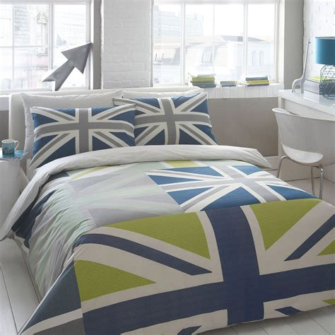 Ben De Lisi Home Designer Blue 'union Jack' Bedding Set