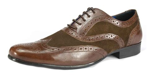 Brown Shoes : Mens Red Tape Lace Up Brogue Smart Leather Shoes Tan Navy
