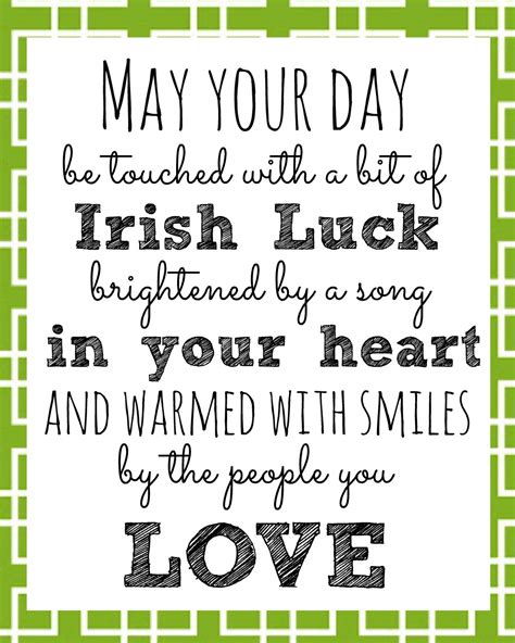 irish blessing printable for st s day