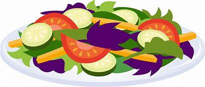Salad Clip Clipart Cliparts Plate Salads Vegetables