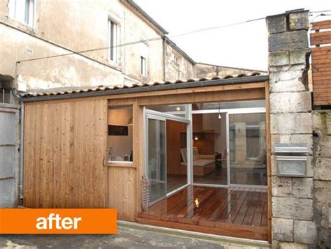 bureau architecte qu饕ec before after garage converted into tiny home garage extérieur et maisons