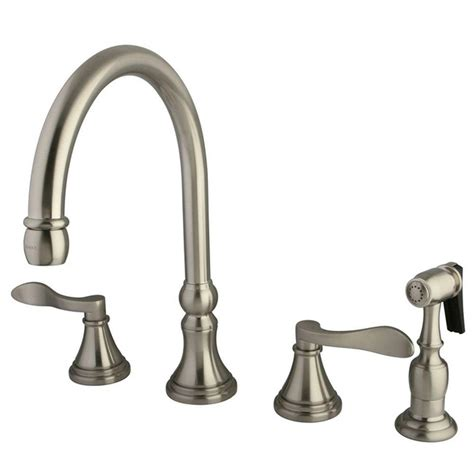 standard kitchen faucet kingston brass 2 handle standard kitchen faucet