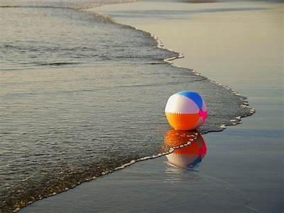 Summer Fun Beach Wallpapers Ball Water Sea