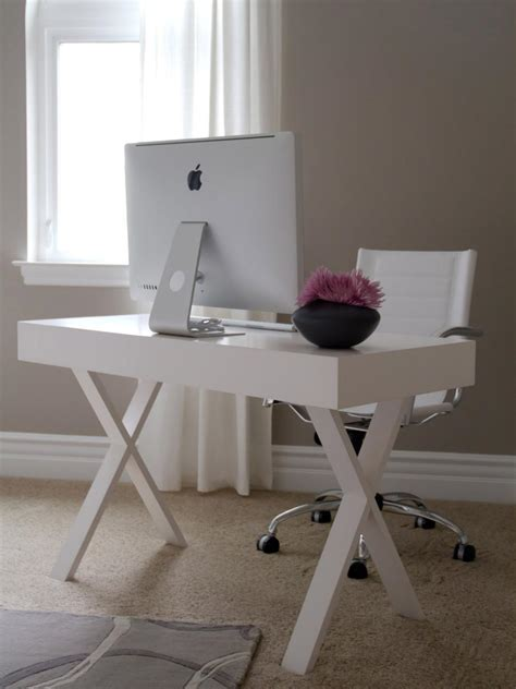 small white office desk small home office ideas hgtv