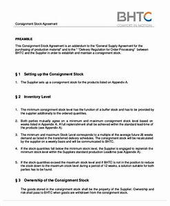 simple agreements With free consignment stock agreement template