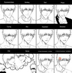 Anime Facial Expressions Chart