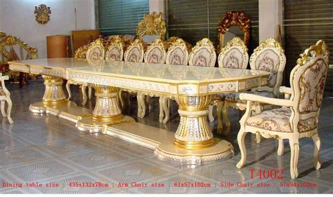 rooms to go dining sets royal palace 435cm silver gold gilded carved big