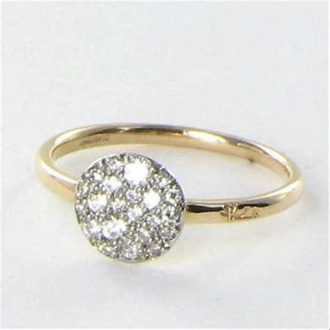 pomellato rings pomellato ring 53 sabbia 0 24 white diamonds 18k gold